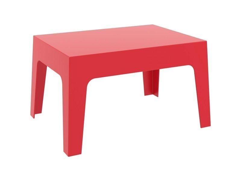 Table basse de jardin design rouge lali - Vente de Ensemble table et ...