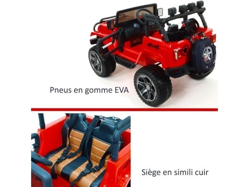Voiture Électrique Enfant 4x4 Pneus Pour Grand Luxe Rouge Volts 24 lcKJF1T