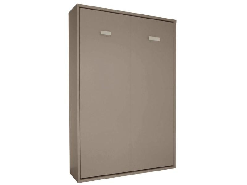 Armoire Lit Escamotable Smart V2 Taupe Mat Couchage 140200