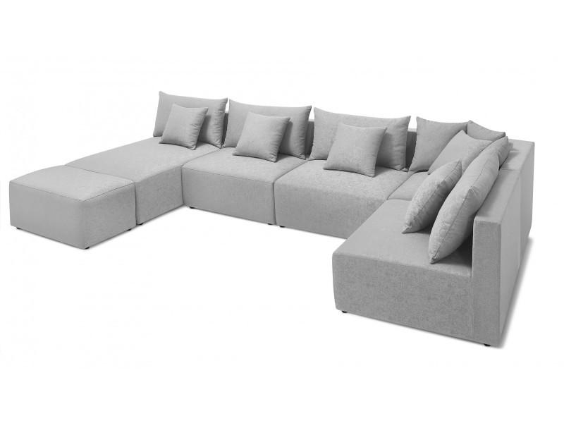 Canapé modulable metis gris clair