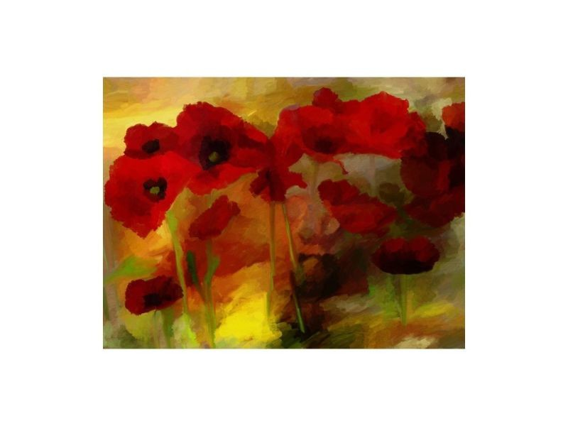 Papier peint - poppies in warm tone 250x193