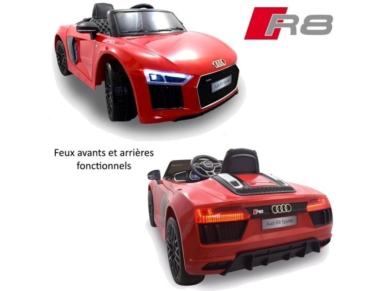 Voiture Nouvelle Petite R8 Enfant Électrique Luxe 12 Volts Audi Pack H2YWD9EI