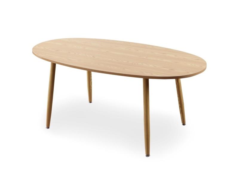 Table Ovale Scandinave Nolane Chêne Clair Vente De