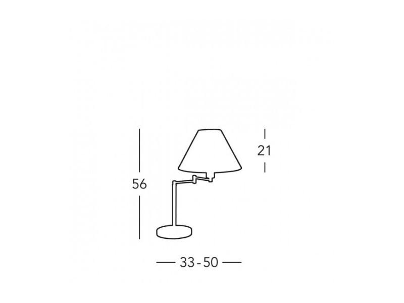 Cm Vente Table 50 Lampe De Laiton Diamètre 1 Hilton Ampoule wvmn8N0