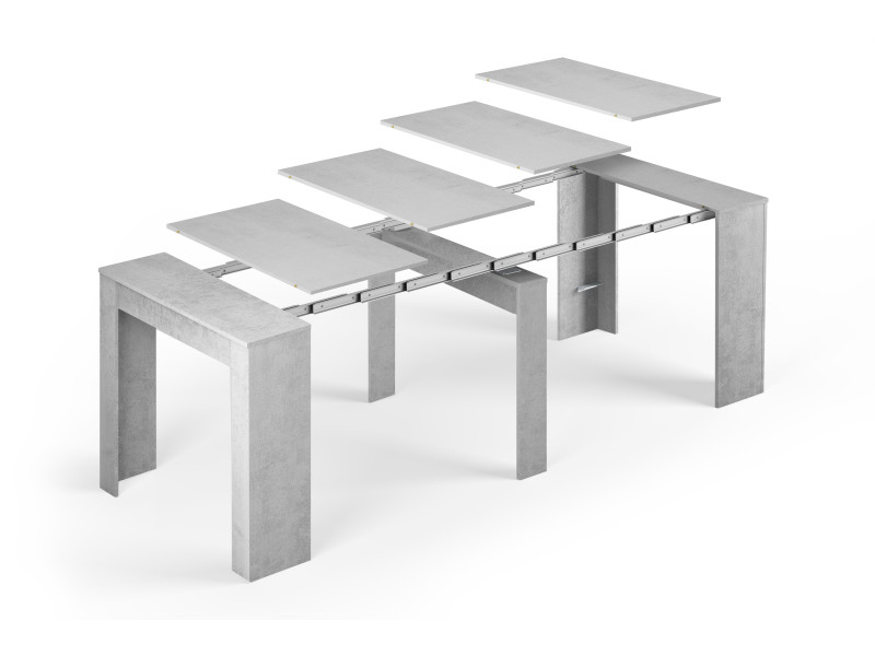 Table console extensible alga rectangulaire avec Table grise conforama