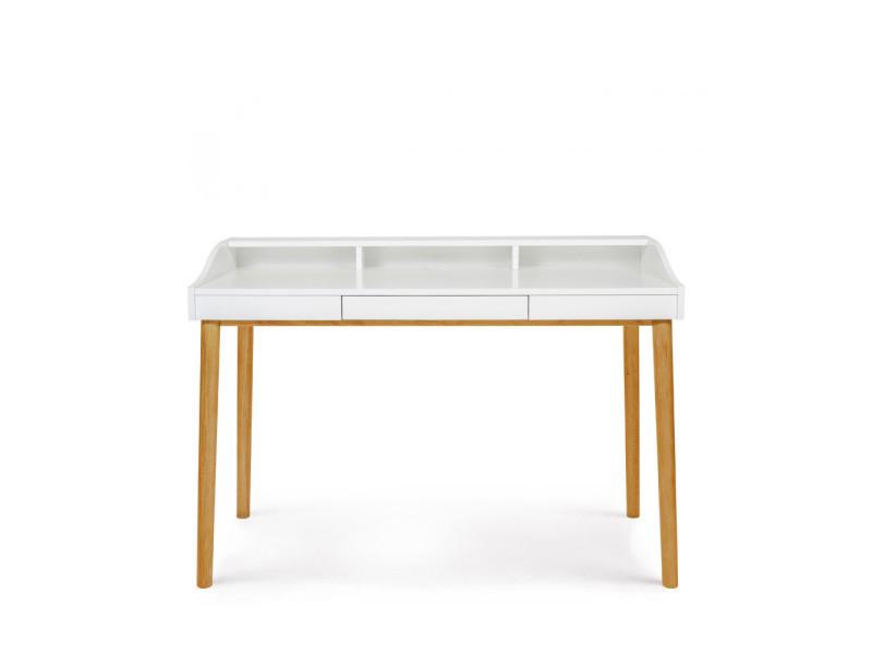 Lindenhof - bureau design scandinave chêne et laque - couleur - blanc / chêne 191003008014