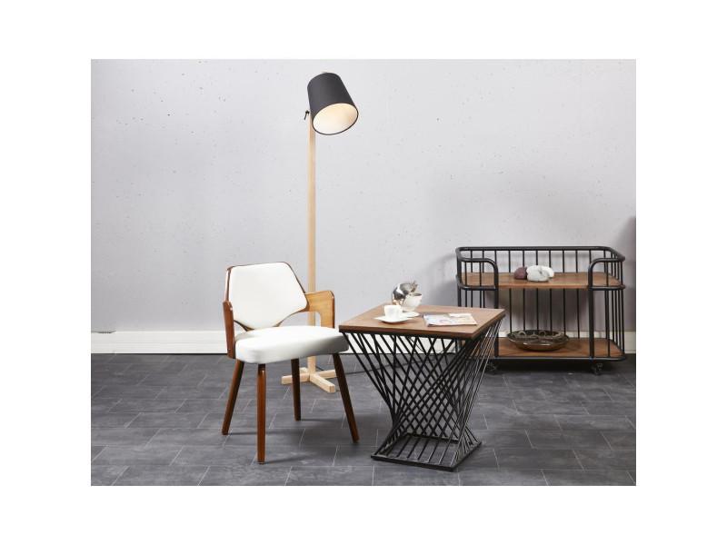 Kiruna chaise de salle a manger en bois bambou revetement