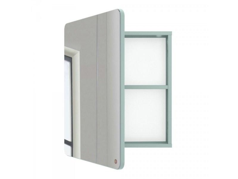 Miroir de salle de bain avec placard en bois atole 9004980076
