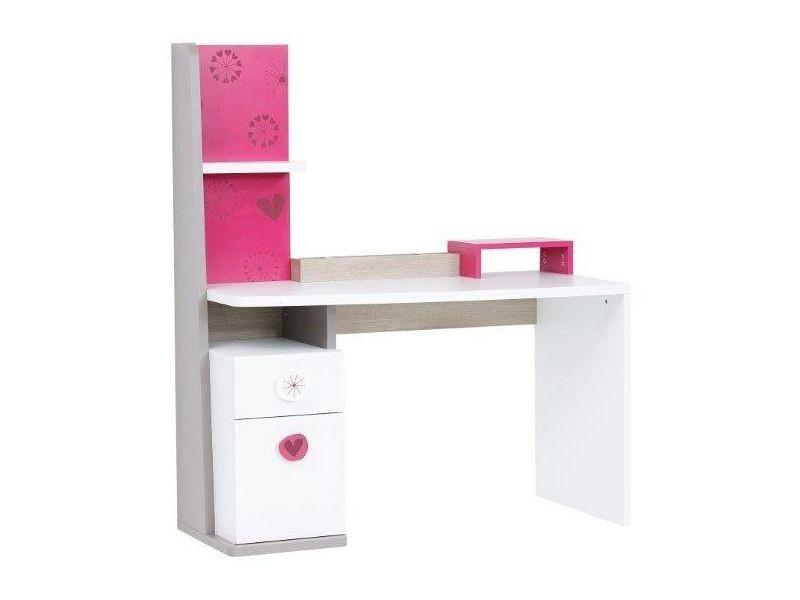 Bureau moderne pour enfant cm avec porte et tiroir coloris