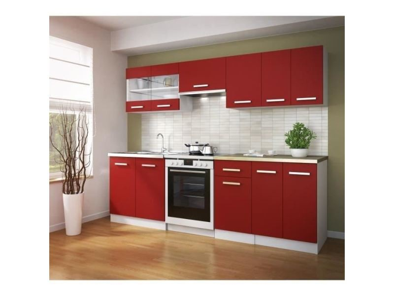 Elements Separes Bas Ultra Meuble Bas De Cuisine L 40 Rouge Mat