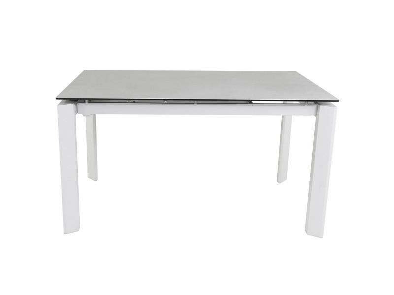 Table céramique 160 x 90 cm concrete - gris