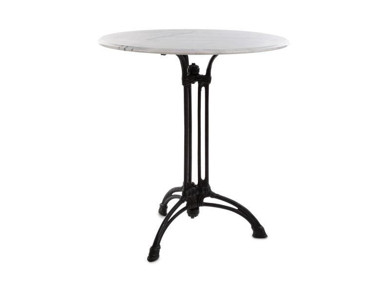 Blumfeldt Patras Xl Table De Café Style Bistrot Plateau En