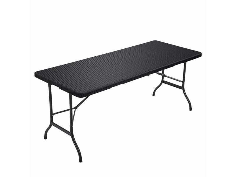 Songmics table pliable 180 cm table de jardin stable ...