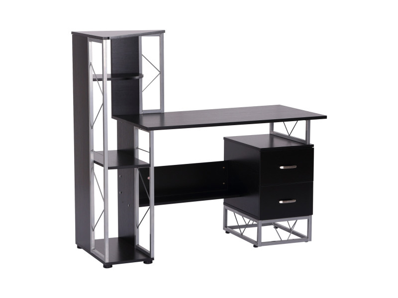 Bureau informatique design industriel l l h cm multi