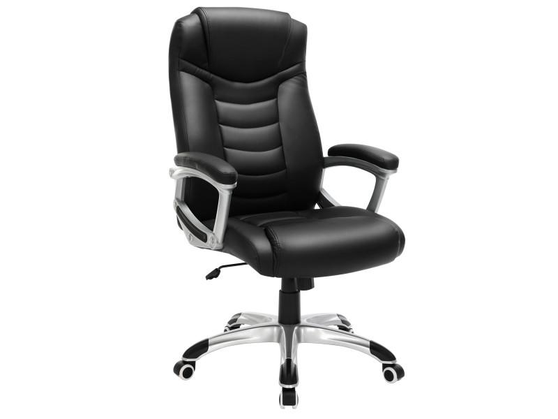 Fauteuil De Bureau Chaise Ergonomique Noir Obg21b