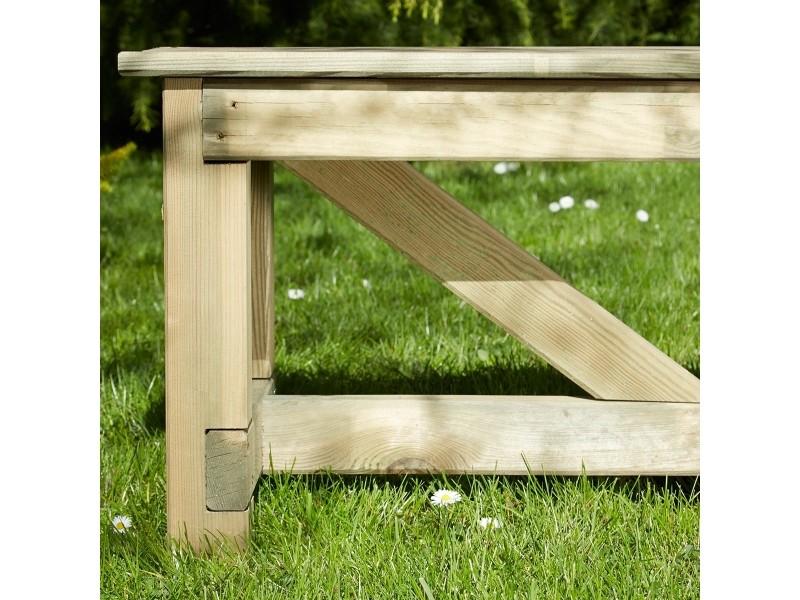 Salon de jardin en bois normand 6 places - Vente de ...