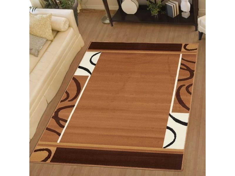 Tapis chambre bc espace marron 80 x 150 cm fabriqué en europe tapis ...