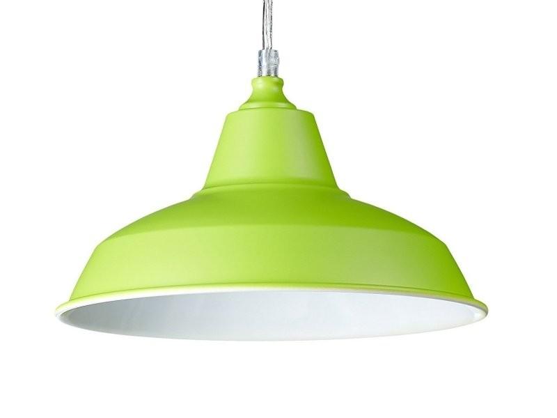 Incroyable Lampe à Suspension Lustre Lampadaire Luminaire Cuisine Salon Salle De Bain  Vert Diamètre 28 Cm Helloshop26 2413007
