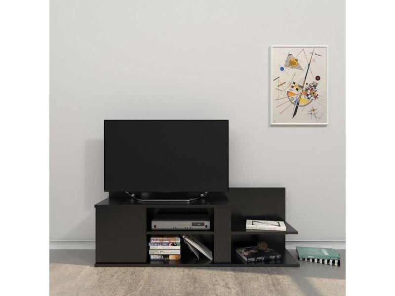 Meuble tv design marshall - l. 120 x h. 42 cm - noir