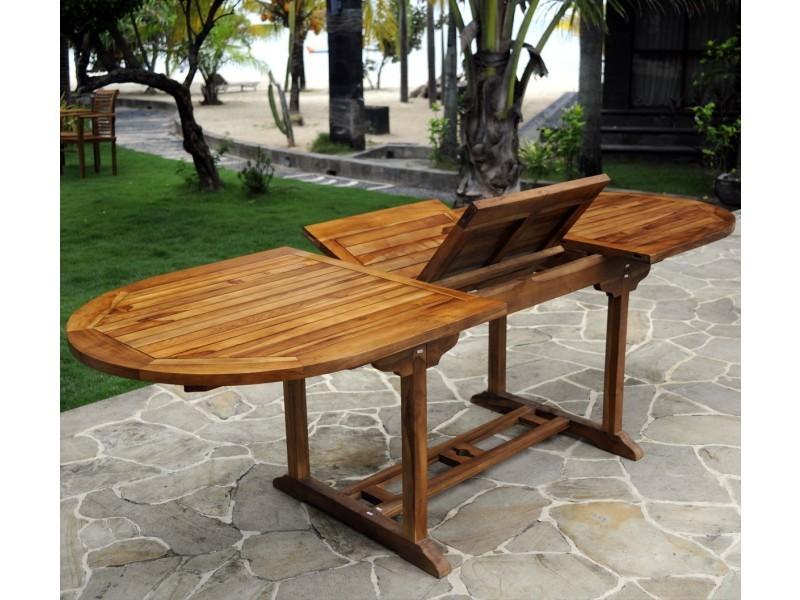 Table De Jardin En Teck Pour 10 Personnes Table Ovale Vente De