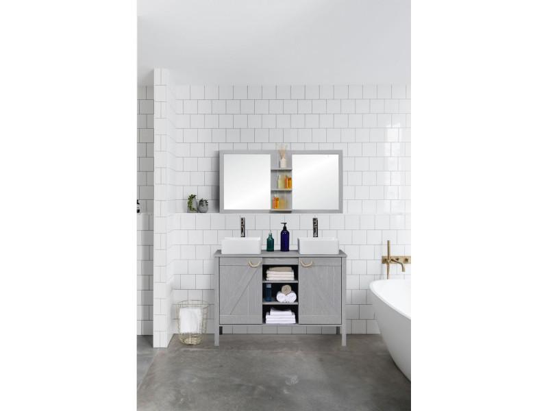 Ensemble meuble sous vasque sdb 120 cm miroir marina vente de mob in conforama - Meuble sous vasque 110 cm ...