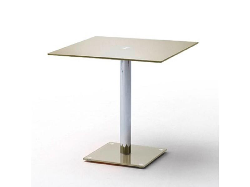 Table repas carrée design fani en verre taupe 20100872000