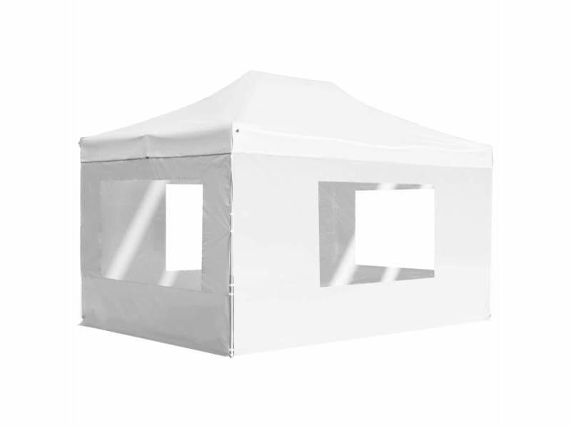 Joli structures extérieures ensemble luxembourg tente de réception pliable avec parois aluminium 4,5x3 m blanc