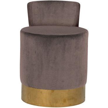 Repose pieds poufs taupe design en acier inoxydable et tissu livr mont 43 cm de largeur - Repose livre cuisine ...