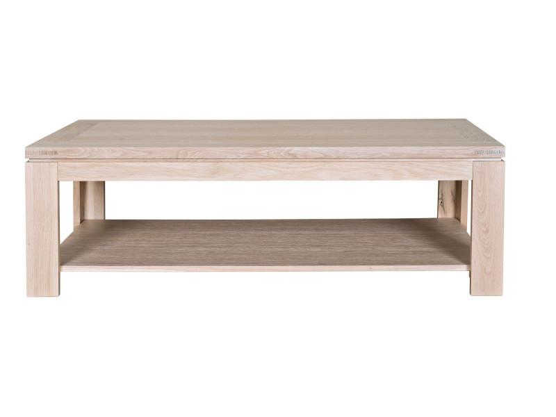 Table Basse En Chêne Blanchi Vente De Hellin Conforama
