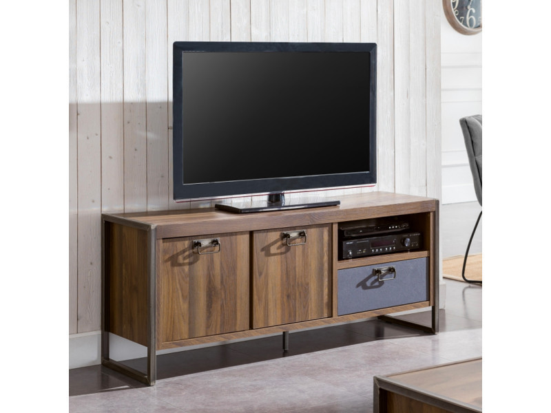 meuble metal tv industriel