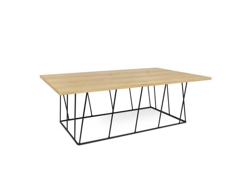 Table basse helix 120 plateau chêne structure laquée noir mat. 20100868127