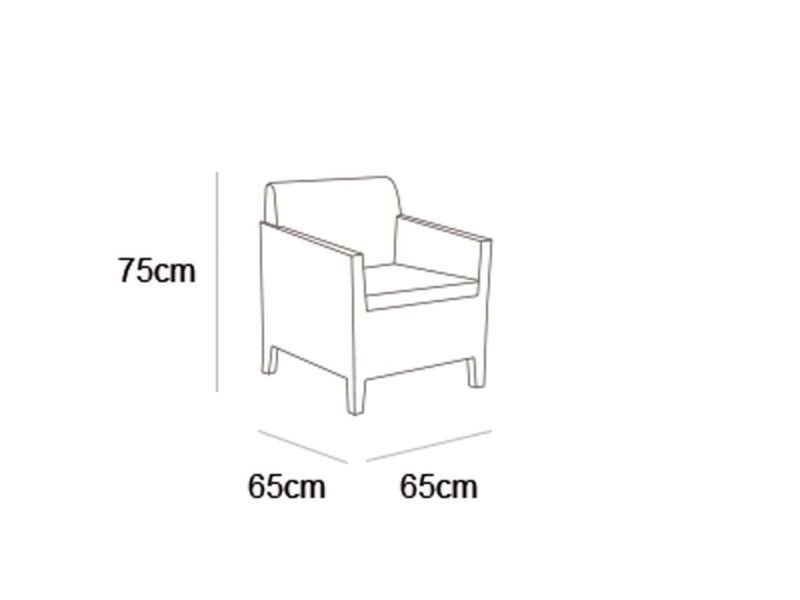 Allibert mobilier de jardin 4 pcs orlando cappuccino 226525 ...