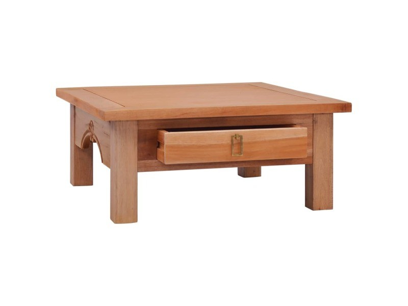 Vidaxl table basse 68x68x30 cm bois d'acajou massif 288824