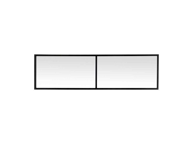 Delamaison Miroir fen/être triptyque en m/étal rectangulaire 120x95cm Teke Ambr/é