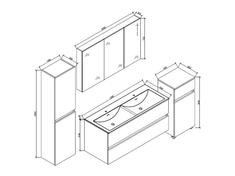 Grande armoire de rangement siena hauteur 150 cm, blanc ...