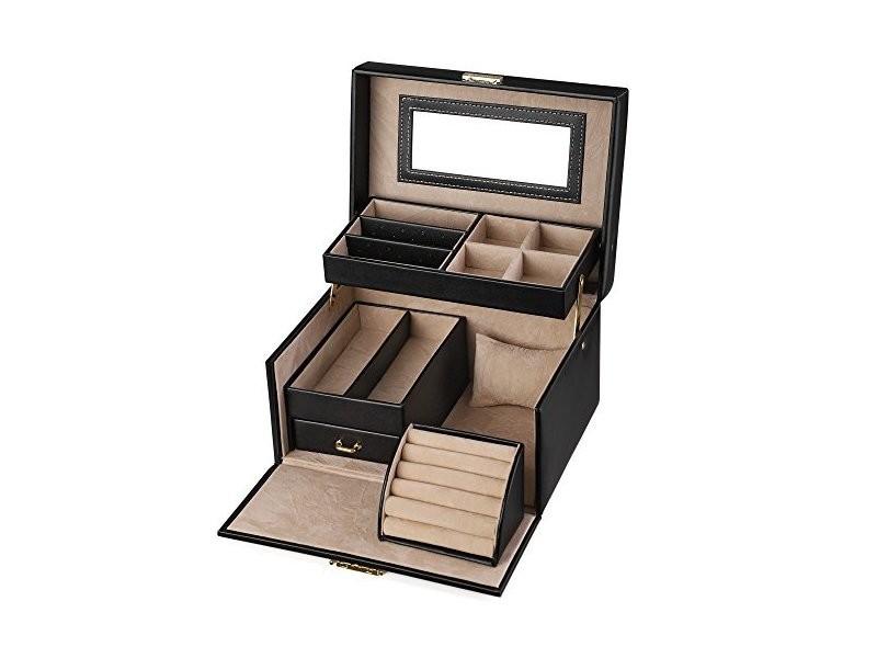 vente à bas prix meilleur site web design de qualité Songmics coffret à bijoux boîte à bijoux 22,5 x 17 x 13,5cm ...