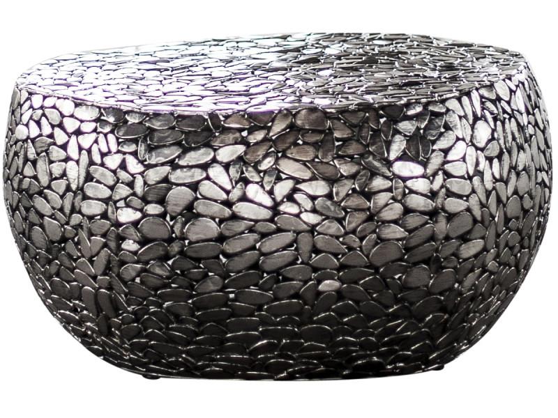 En Caillou Acier Nickel Table Forme Basse Coloris Design 85 Antique LVMSzqUpG