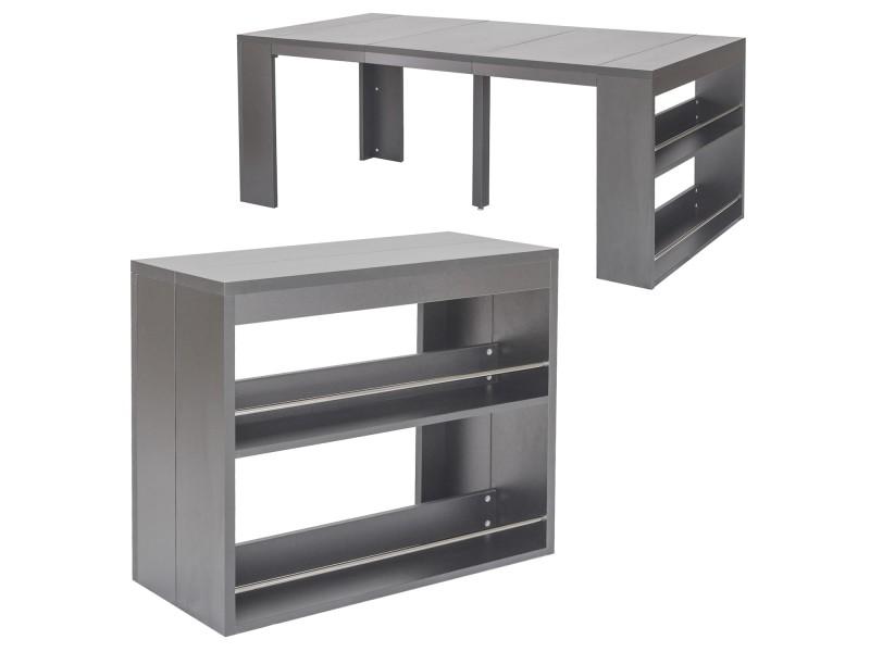 Console Maxwell Avec De Table Rangement Vente Menzzo Gris Nn0wPXZ8kO