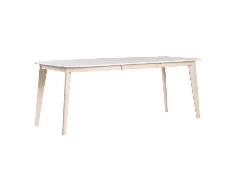 Table A Manger Extensible Scandinave Blanc Et Bois Clair L150 200