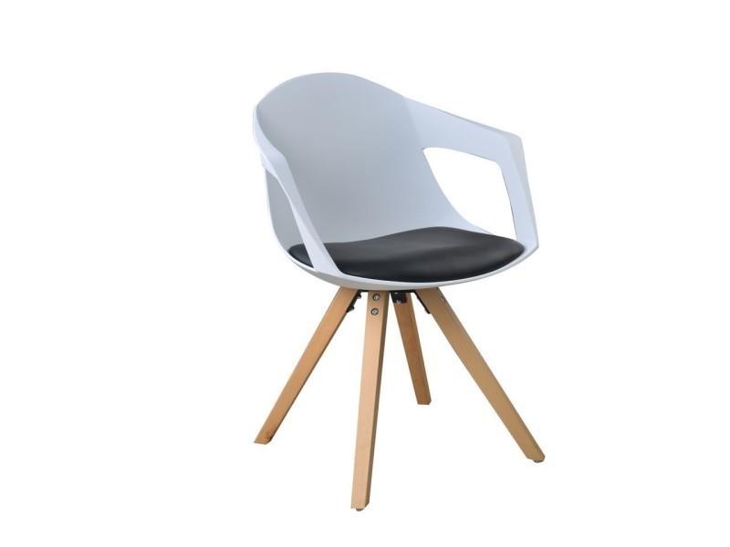 Style Chaises Lot A19blancamp; 2 Au Nordique Avec Accoudoirs Noir De TK3lF1Jc