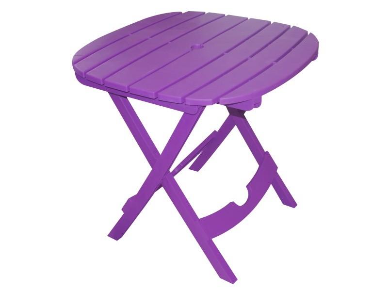 Table de jardin - pliable - sans chaises (violet) - lot : 1 table ...