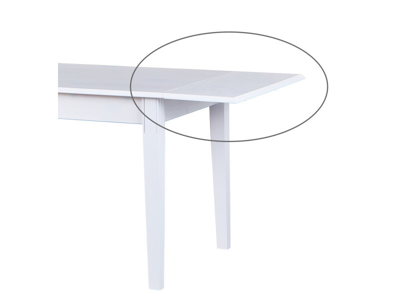 Rallonge de table coloris blanc en pin massif