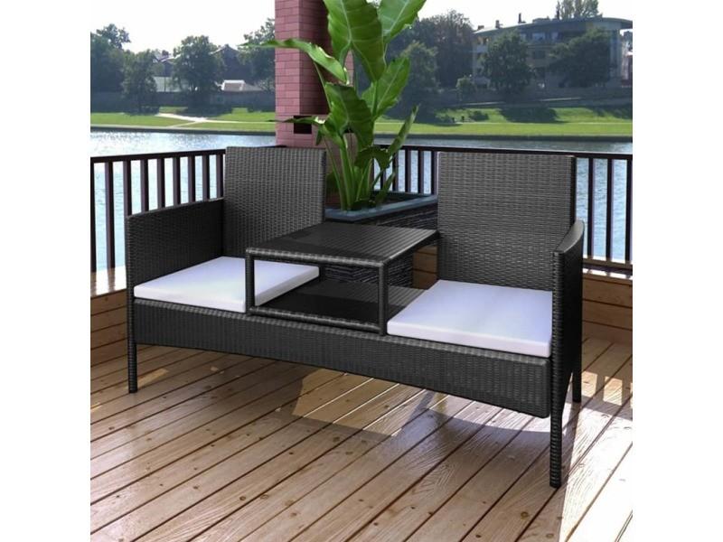 Admirable meubles de jardin collection conakry banc à deux ...