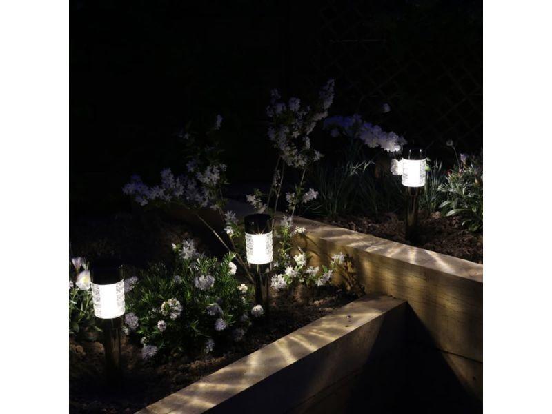 eclairage jardin led solaire Luminaires reference asmara luxform lampe led solaire de jardin macon 3 pcs  noir 35329