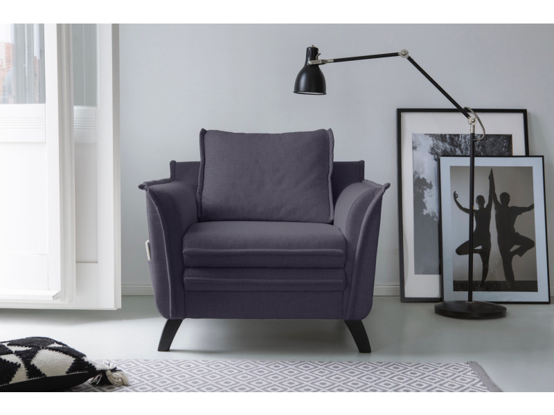 Fauteuil boho anthracite