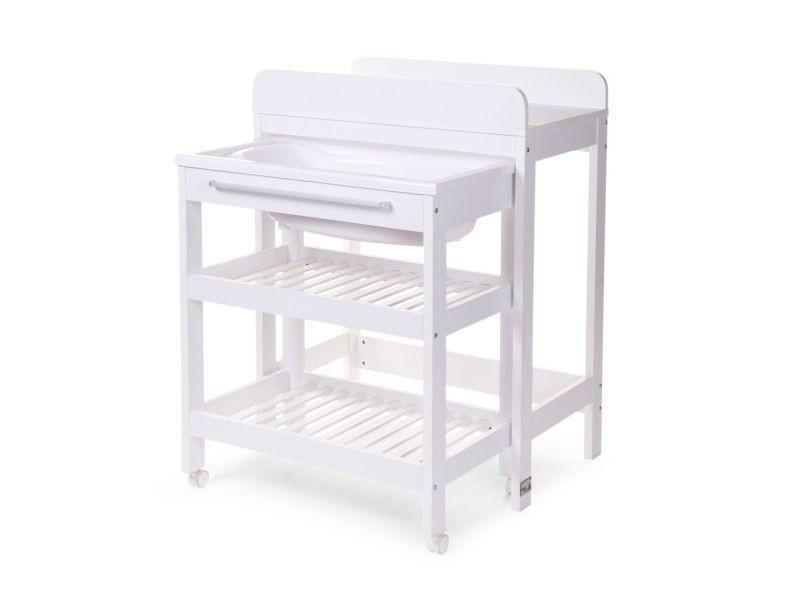 84c7446df6c5f Table à langer avec baignoire intégrée coloris blanc p-6228-co nursi ...