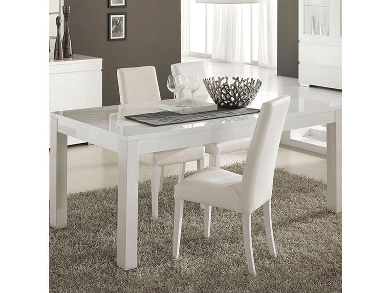 Charmant Table à Manger Blanc Laqué 190x90 Cm Bianco
