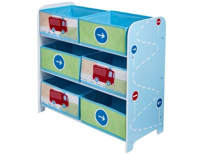 Commode de chambre meuble de rangement enfant 6 bacs ...