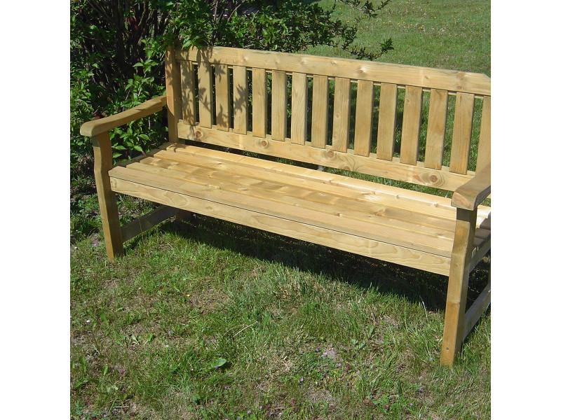 Banc de jardin 4 places en bois traité autoclave, cortina - Vente de ...