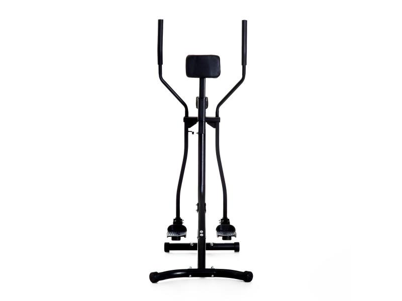 Homcom V/élo elliptique Vertical Support Abdomen air Walker Crosstrainer Ordinateur de Bord LCD r/églable 110k Max Acier Noir